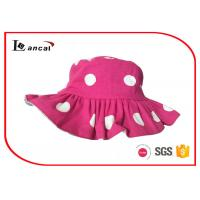 Quality Cute fashion dot printed fisherman hat all cotton twill sun hat for girls for sale