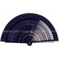 Quality Solid Color Painted Wooden Hand Fan Hollowed Out Ribs , Craft Fan for sale