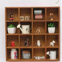 Buy cheap Eco - Friendly Indoor Storage Cabinets Wall Hanging Cube Storage Shelf Units product