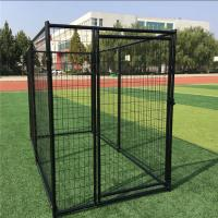Buy cheap Low Carbon Steel Wire Chain Link Dog Kennel / Outdoor Dog Enclosures from wholesalers