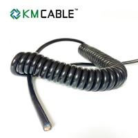 Quality 4 Sq Mm Coiled Electrical Cable Portable Street LED Light No Silicone for sale