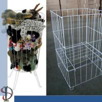 China Metal Bin Display Rack for  Plush toys/ White TOY PET CARRIER / wire square bin on sale