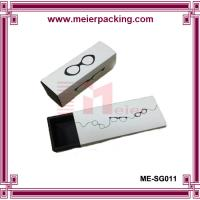 China Sunglass paper boxes/Logo printed paper drawer box/White cardboard paper box ME-SG011 on sale