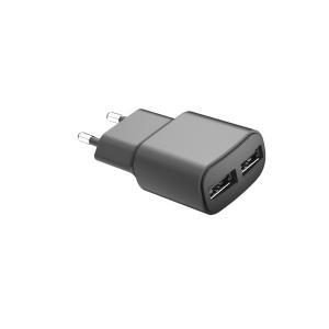 Quality 100-240V Dual Ports 12W 5V2.4A European USB Charger for sale