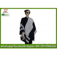 Quality 560g 130*130cm 100%Acrylic woven jacquard word poncho hot sale new style  keep warm fashion scarf for sale