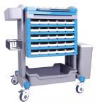 Quality L * W * H 750 * 600 * 1000mm Crash Medical ABS Nursing Emergency Trolley for sale