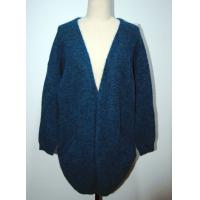 Quality Womens Knitted Cardigan Long Knitted Coat Open Front With Two Pocket for sale