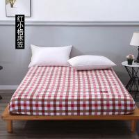 Quality 100% Cotton Fitted Sheet Soft Simple Stripes Grid hotel bed sheet bedspread 90x200/120x200/180x200cm for sale