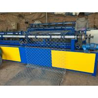 Buy cheap Fully Automatic Single Wire Chain Link Fence Making Machine Diamond Shape Mesh from wholesalers