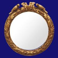 Quality 4033 Luxury Golden PU Wall Decor Mirror Frame for sale