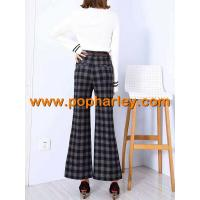 China factory wholesale lady denim jeans,leisure trousers,plaid trousers on sale