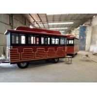 Quality Customized Color Trackless Train Amusement Ride With FRP And Steel Material for sale