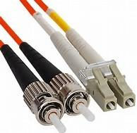 Buy cheap Duplex Fiber Jumper ST to LC Multimode Fiber Optic Patch Cord in Riser PVC from wholesalers