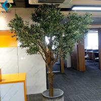 Customize Size Fake Olive Tree , Wood Trunk Artificial Ornamental Trees for sale