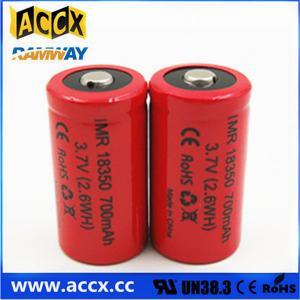 China ICR18350 700mAh 3.7V li-ion battery 18350 for led, cordless phone, home application on sale