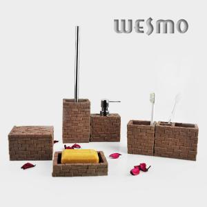 Quality WBP0233B Personalized 6 Piece Break Resistance Polyresin Bathroom Set for sale
