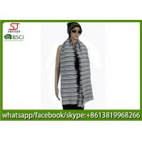 Quality 176g 180*60cm 100%Acrylic woven crochet stripe scarf poncho best price factory  keep warm fashion china supplying for sale