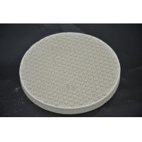 Quality Round Cordierite Ceramic Heat Resistant Plate For BBQ Stove Grill High Strength for sale