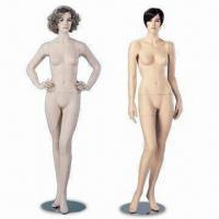 Buy cheap Female Mannequin, Available with/without Wig, All Heads Shown are Available for from wholesalers