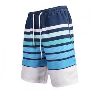 Quality Casual Men's Discoloration Stripes  S surf swim shorts for sale