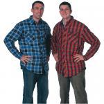 Quality Custom Blue Plaid Uniform Work Shirts fashion Softshell Workwear for sale