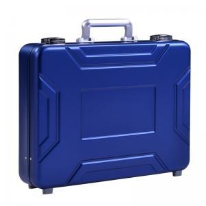 Quality MS-M-05 Anodize Blue Aluminum Suitcase Briefcase For Sale Aluminum Model Case for sale