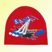 Quality Knitted Jacquard Hat Made of 94% Acrylic and 6% Amine for sale