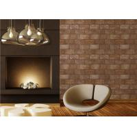 Quality 3D Brick Printing Natural Style Modern Removable Wallpaper , 0.53*10M PVC Material for sale