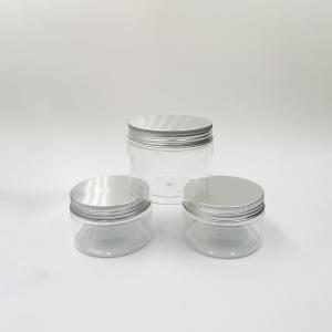 Quality 25g 50g Screen Printing Screw Cap Pet Plastic Jars for sale