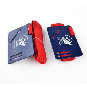 Quality Plastic Card Hook Loop Elastic Hook Loop Straps / Book Carry Strap OEM , Reusable for sale
