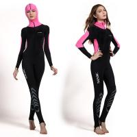 China Fashion design women Ultrathin wetsuits diving suit swimming wear pink color on sale