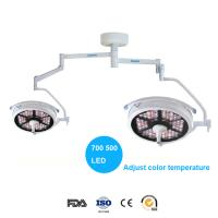 China 140000Lux  double heads surgical lamp with adjust color temperature on sale