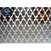 China Multi Functional Razor Barbed Wire Mesh High Security Galvanized Coated on sale