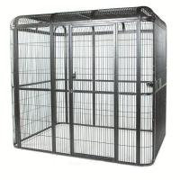 Quality outdoor welded mesh parrot/birds aviary house black powder coated big aviary cage for sale for sale