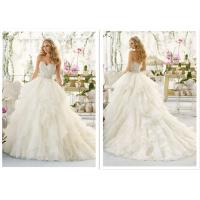 Buy Applique Tassel Ball Gown Style Wedding Dresses With Crystals Color Optional at wholesale prices