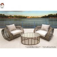 China 2 seats and one round table cheap rattan garden sofa RMS70135R on sale