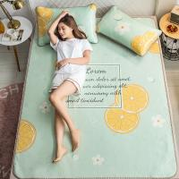 Quality 3D printing Summer sleeping mat Summer foldable bedding mattress Cold mat with ice silk Bed Sheet for sale