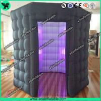 Quality Popular Oxford Material Square Black Inflatable Photo Booth Inflatable Tent With Led for sale