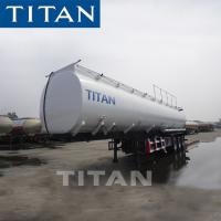 China TITAN 3 Axle  40000/420000 Liter Oil Tanker Semi Trailer Fuel Tank Trailer mike tank trailer on sale