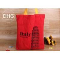Quality Non Toxic Cotton Shopping Bag Full Colour Transfer Printing Hand Worked for sale