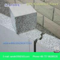 China Fireproof wall insulation materials prefab concrete houses eps sandwich wall panel on sale