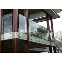 China Balcony railing designs indoor stainless steel glass railing standoff pin on sale