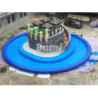 Quality Summer Water Game Jungle Themed Inflatable Blow Up Water Park With Centre Slide for sale