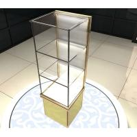 Quality Perfume Cosmetics Bangle Jewelry Glass Display Shelves Retail With 3 Layers for sale