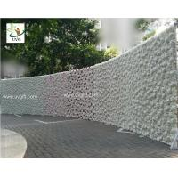 Quality UVG 2.4m curved big fake flower wall wedding backdrops in silk rose and hydrangea for sale for sale