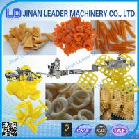 Small scale screw shell chips 3D pellet extruding and frying process line