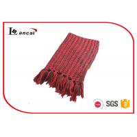 Quality Neon Ladies Twist Style Adults Knitting Patterns Scarf Washable 186cm x 24cm For Winter for sale
