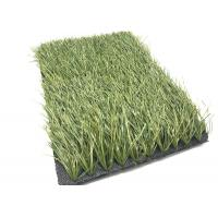 Quality Olive Green Football Fake Grass Anti - Slip , Synthetic Grass For Soccer Fields for sale