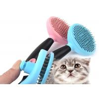 Quality Multicolor Stainless Steel Dog Comb , Shedding Hair Remover Dog Hair Trimmer Comb for sale