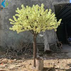 China Yellow Fake Sakura Tree For Restaurant Decoration , Artificial Cherry Blossom Tree on sale